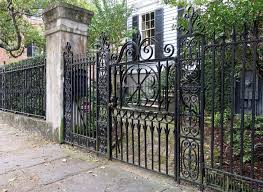 wrought iron privacy fence.  Wrought A Tall Intricate Wrought Iron Fence With An Ornate Gate With Wrought Iron Privacy Fence