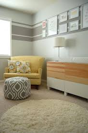 a soothing modern nursery for baby painting stripes horizontal striped wall paint ideas