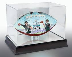 eagles super bowl lii champs commemorative art football and display case