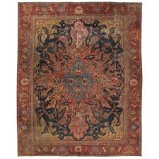antique farahan rug with modern industrial style persian area rug for