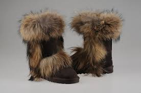 UGG Fox Fur Boots 5825 Chocolate  201.78