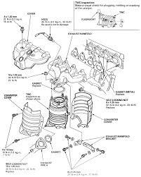 All types d15b8 engine repair guides engine mechanical exhaust manifold