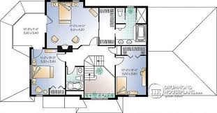office room plan. 2nd Level 3 To 4 Bedroom Traditional Country House Plan, Sunken Family Room, Home Office Room Plan