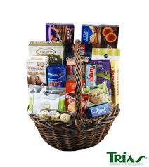 this basket is an ortment of milk chocolates cookies wafer cookies dark