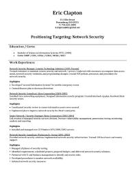 Fantastic Information Security Consultant Resume Ideas Entry Level