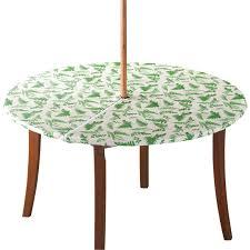 garden greenery zippered elasticized umbrella table cover