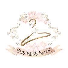 Hanger Design Logo Custom Logo Design Hanger Logo Cute Pink Logo Hanger