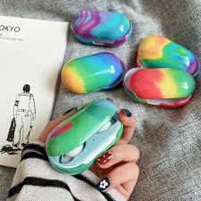 Giá bán Vỏ Bảo Vệ Hộp Đựng Tai Nghe Airpods Họa Tiết Rằn Ri Nhiều Màu Cho Samsung  Galaxy Bur / Bud