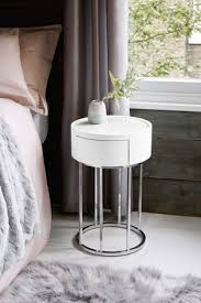 sloane marble round bedside table