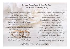 Poem To Daughter And Son In Law On Your Wedding Day