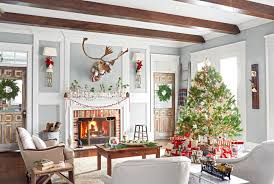 simple homes christmas decorated. Interior Simple Country Themed Christmas Decorations Home Inspiring Homes Decorated O