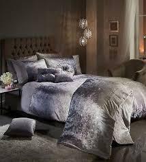 luxury crushed velvet duvet cover set