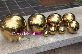 Decorative Metal Balls Stainless steel hollow sphere decorative golden metal Christmas 58