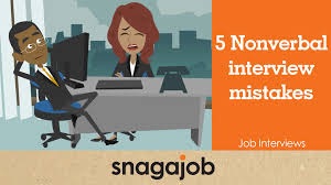 Job Interviews Part 3 5 Nonverbal Interview Mistakes Youtube