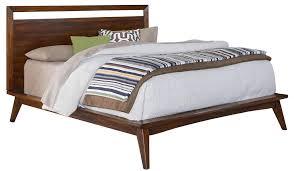 Mid Century Modern Full Size Flat Platform Bed Frame With Brayden ...