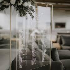 Acrylic Wedding Seating Chart Acrylic Seating Chart