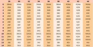 34dd Size Chart Bra Measuring Guide