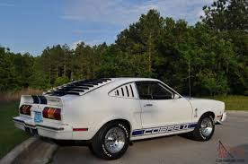 1978 Mustang II Cobra II White with Blue Lemans Stripes