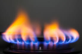 gas stove flame. Orange And Yellow Flames On A Gas Range Stove Flame L