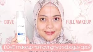 review jujur dove 3 in 1 makeup removing foaming cleanser makeupbynia 9