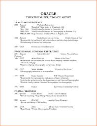 Dance Resume dance resume examples nicetobeatyoutk 37