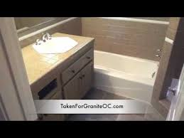 countertop and tub refinishing to look like granite