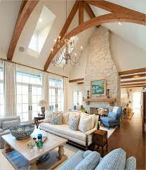 Residential Cathedral Ceiling Lighting Vaulted Ceiling Living Room Design Ideas
