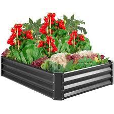 4 ft x 3 ft metal raised garden bed