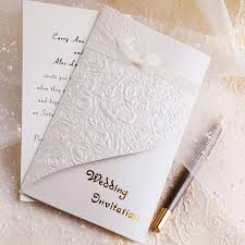 Wedding Invitation Folding Best Elegant And Inexpensive Hearts Embossed Tri Folded Chic Wedding