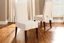 Sure fit® scroll dining chair cover. Sure Fit Cotton Duck Short Dining Chair Cover Slipcovers For Chairs Dining Chair Covers Dining Room Chair Slipcovers