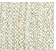 fibreworks custom braided jute rug bleached