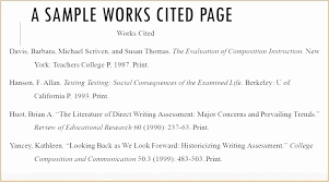 Example Works Cited Mla Works Cited Template New Example A Works Cited Page Template Mla