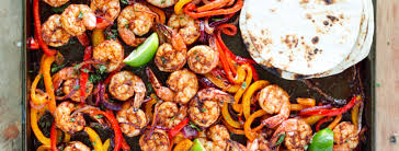 sheet pan shrimp fajitas food the worried wino
