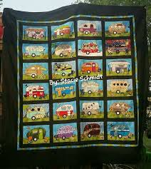 26 best Quilts - Camping Theme images on Pinterest | Camping ... & Campers quilt pattern includes full size patterns, placement sheets, and  instructions to make a x Camper Trailer Quilt, an x 18 Welcome Wall ha Adamdwight.com