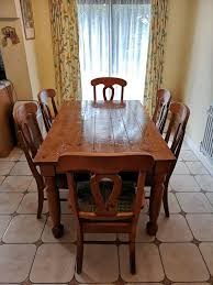 Dining Kitchen Table 6 Chairs Solid Wood In Bedford
