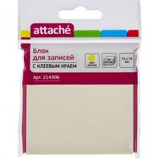 <b>Attache Блок</b>-кубик с клеевым краем Z-<b>блок</b> 76х76 мм 100 листов ...