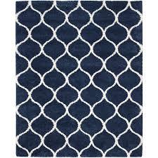 safavieh hudson hathaway navy ivory indoor moroccan area rug common 8 x