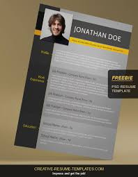 Creative Resume Templates Free Impressive Free Resume Template on Behance