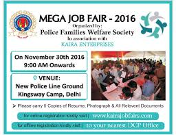 What Happens At A Job Fair Police Families Welfare Society Regd Delhi