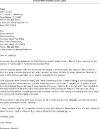 Mail Handler Resume Cover Letter For Mail Handler Dolap Magnetband Co