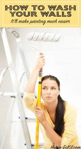 washing walls before painting helps the new paint adhere better saving time and effort