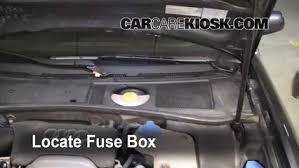 blown fuse check audi a audi a l v locate engine fuse box and remove cover