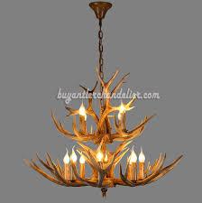 12 deer antler chandelier 8 4 cast cascade candle style rustic lighting fixtures