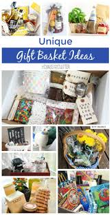 these unique gift basket ideas are a wonderful idea for bridal showers or weddings raffles