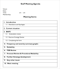 Meeting Minutes Format Sample Staff Meeting Agenda Format Template Sample Meeting Format
