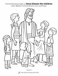 Awesome Jesus And The Children Coloring Pages 61 In With Loves