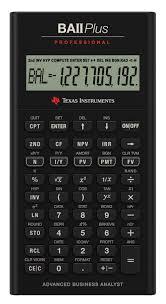 Pro Forma Calculator Amazon Com Texas Instruments Ba Ii Plus Professional Financial