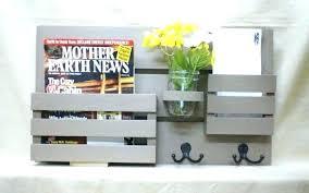Wooden Magazine Holder Ikea Chalkboard Mail Holder Kitchen With Shelf Magazine Organizer Wood 63