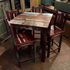 Indian Reclaimed Wood Bar Table Color pattern may vary since this is an  item we produce