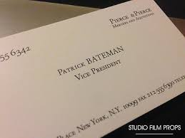 Halloween Business Cards 40 X American Psycho Patrick Bateman Business Cards